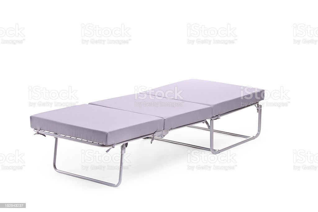 View of a rollaway bed stock photo