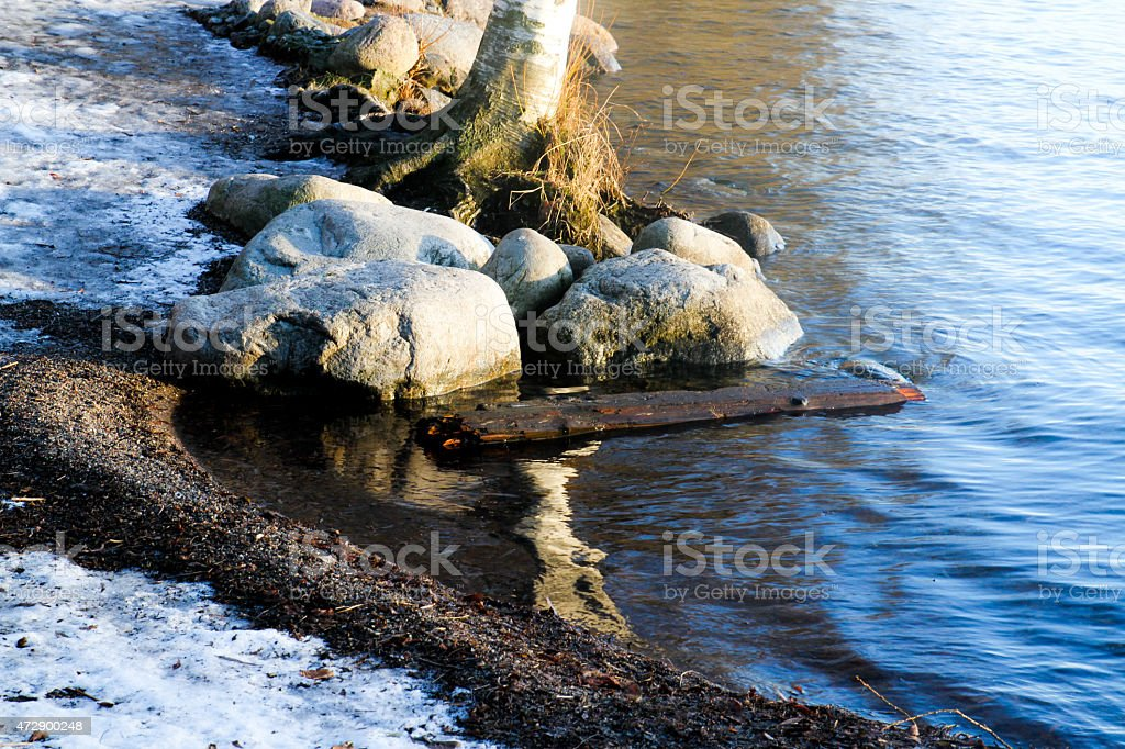 View of a seaside and the stones royalty-free stock photo