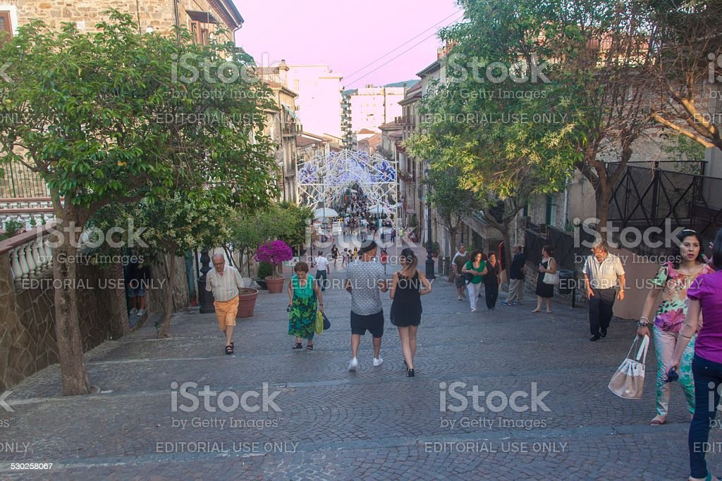 View of a street in Agropoli stock photo