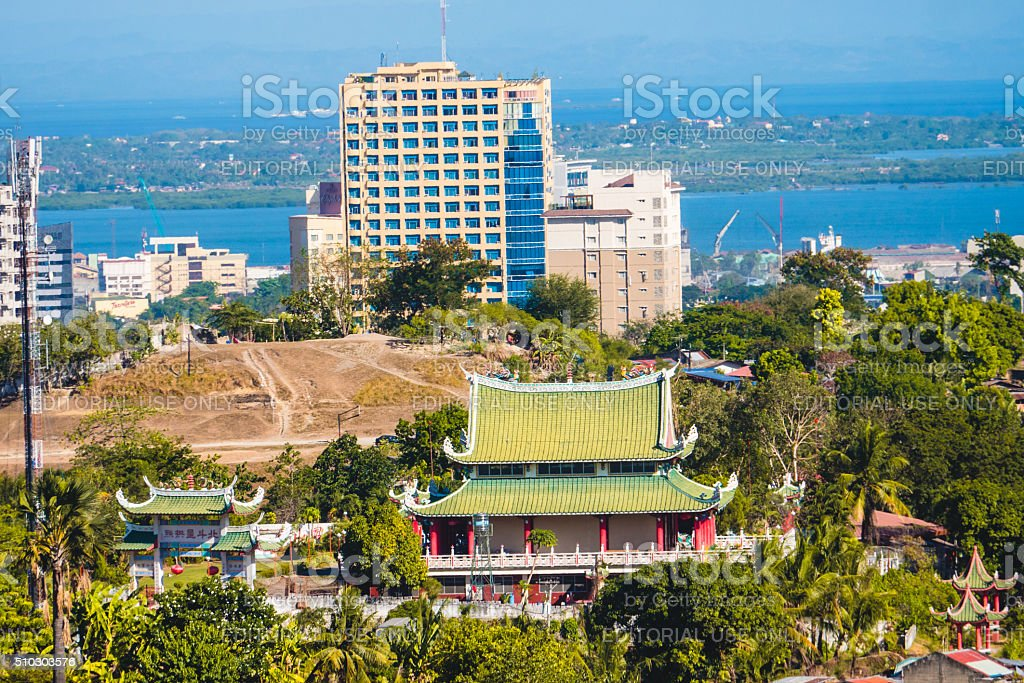 View of a Taoist temple in Cebu, Philippines stock photo