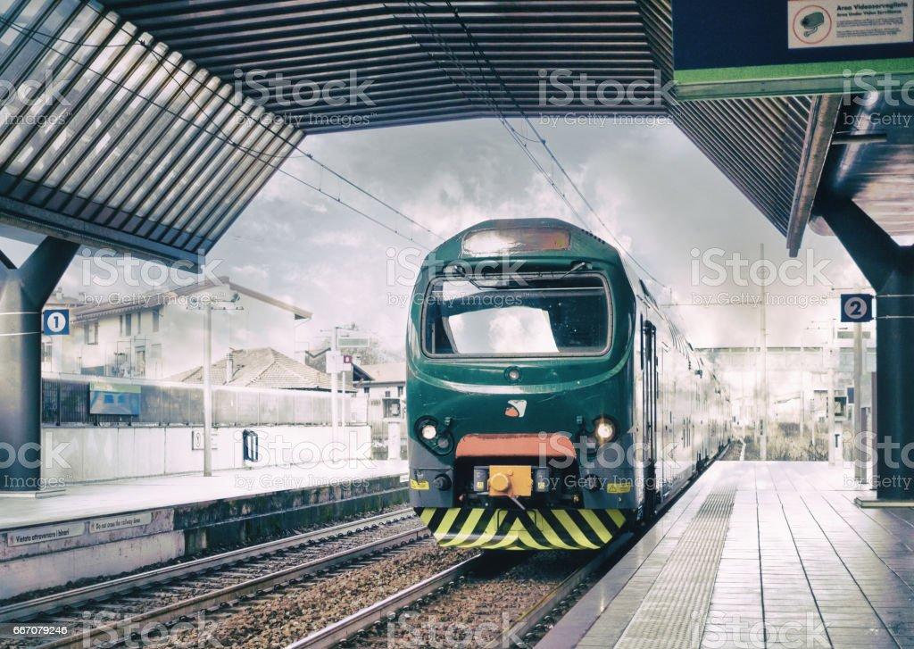View of a train stock photo