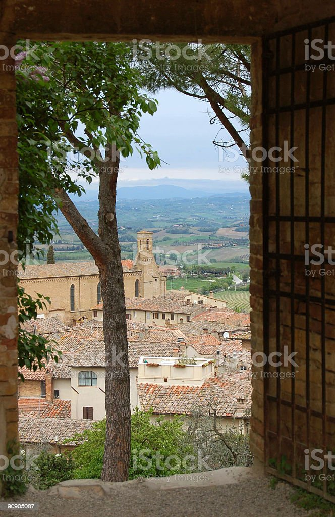 View of a Tuscany Landscape royalty-free stock photo