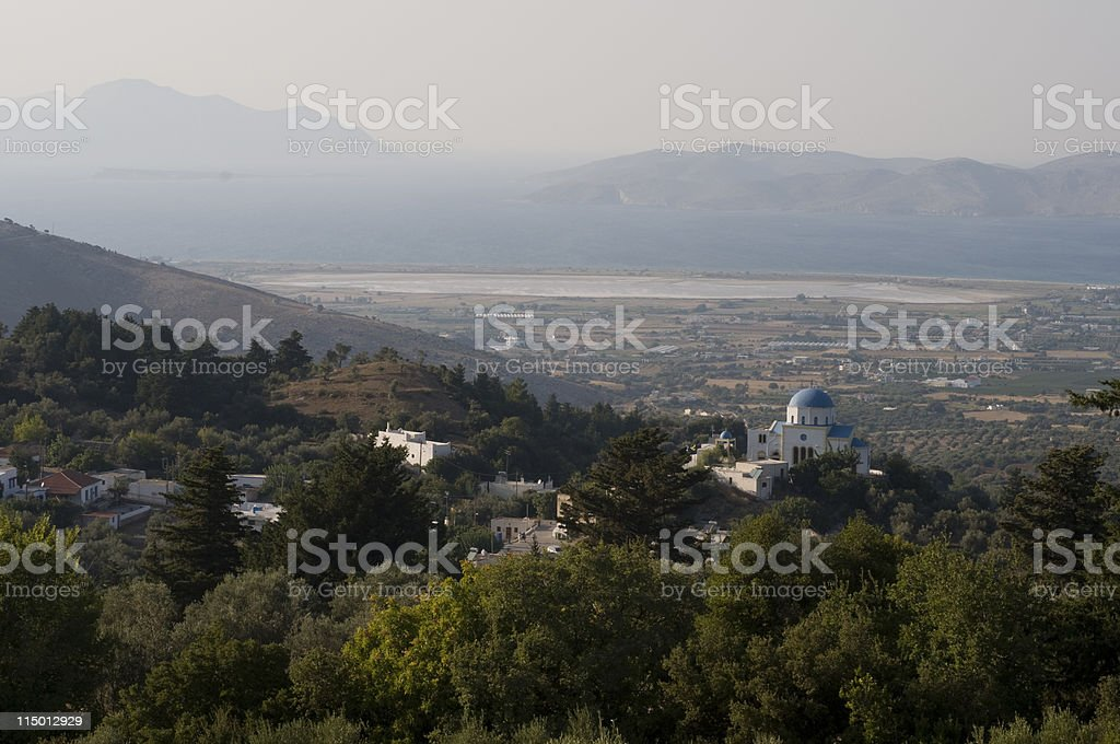 View of a Village, Greek Island royalty-free stock photo