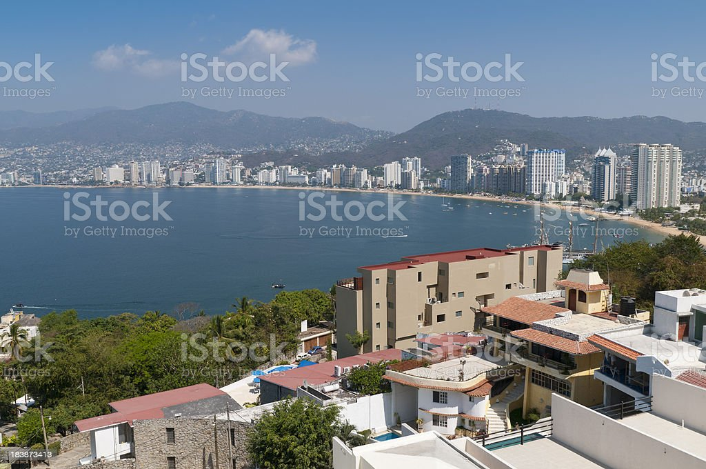 View of Acapulco Bay stock photo
