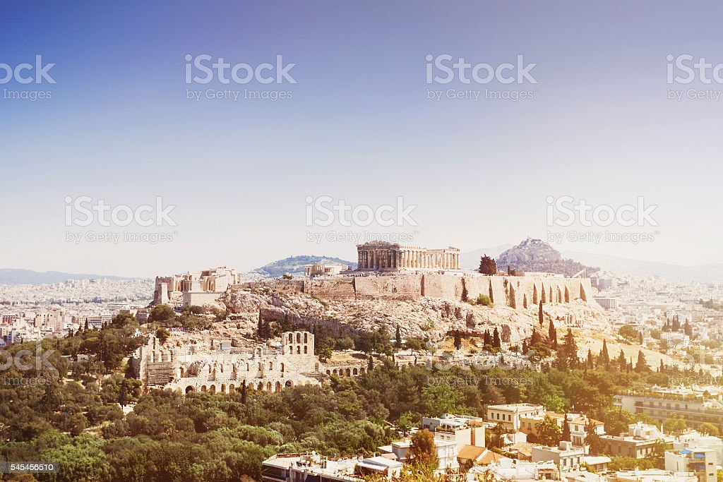View of Acropolis, Athens stock photo