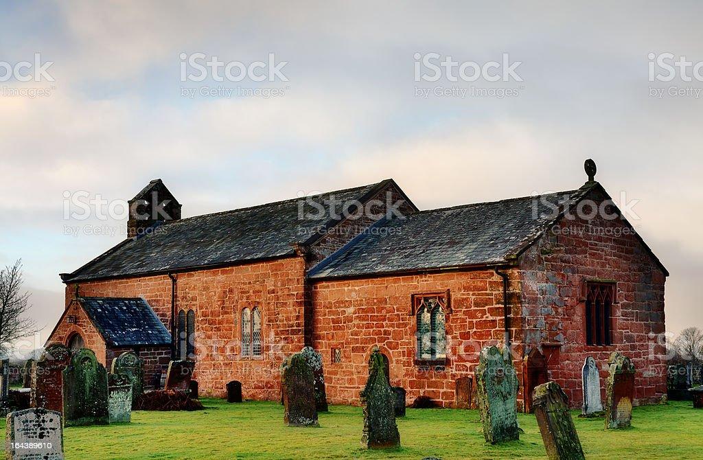 View of Addingham Church, Cumbria royalty-free stock photo