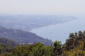 view of Adler district in the greater sochi from mountain