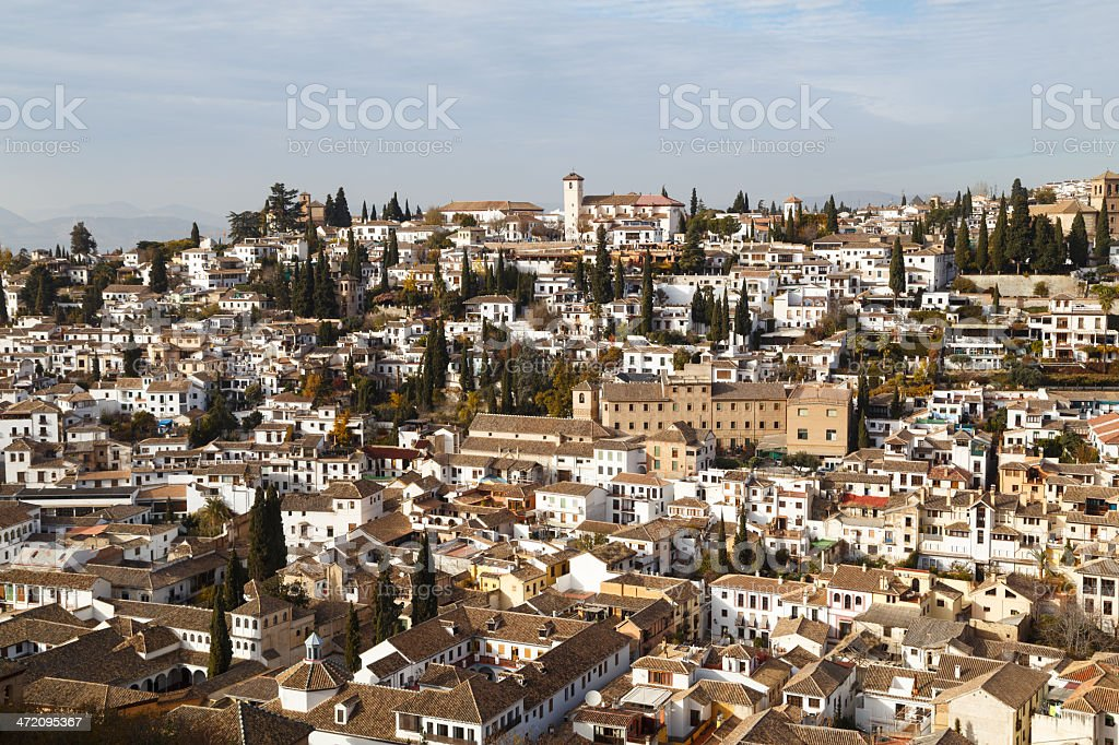 View of Albaicin - Granada stock photo