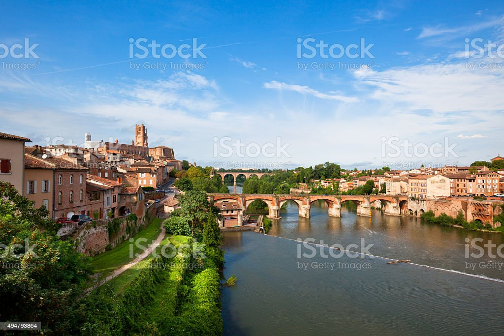View of Albi, France stock photo