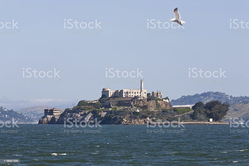 View of Alcartaz Island, San Francisco royalty-free stock photo