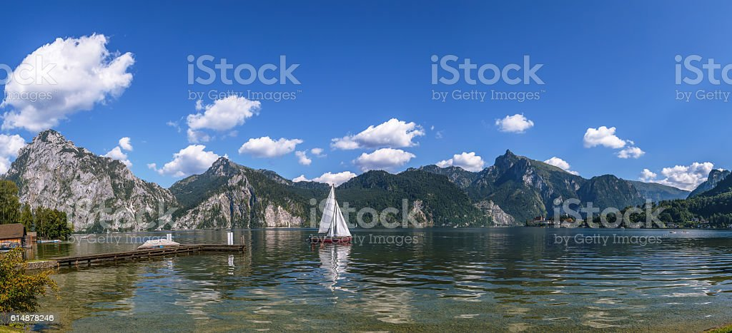 view of Altaussee, Austria stock photo