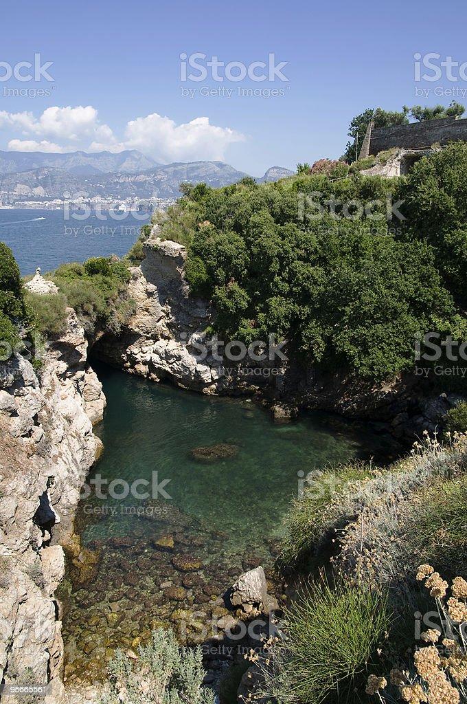 Vista de Amalfi bay (Salerno, Itália foto royalty-free