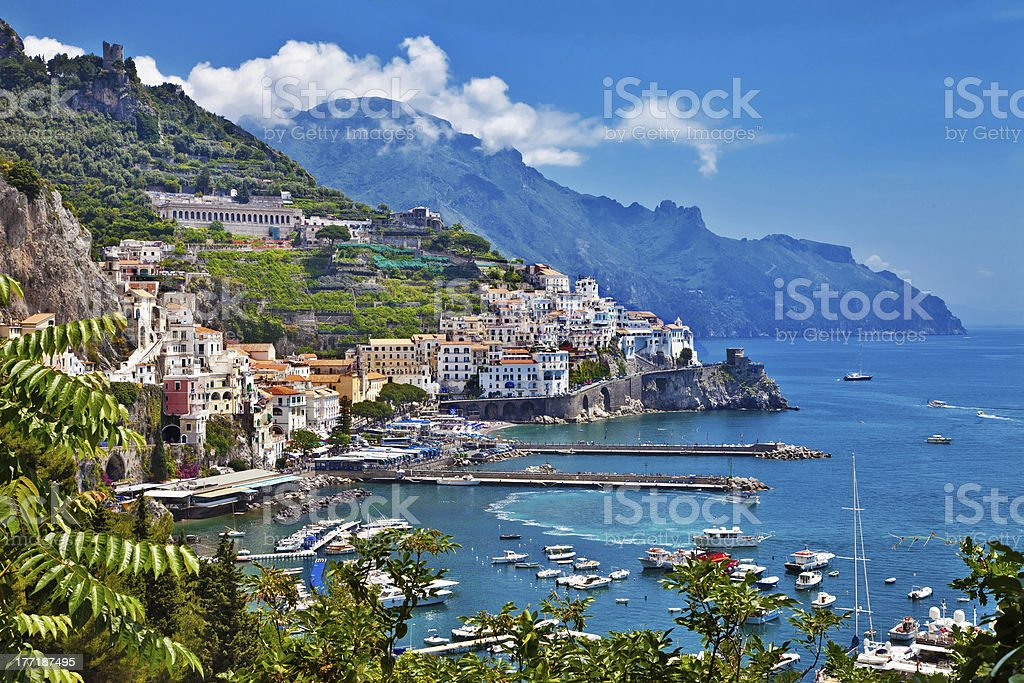 view of Amalfi, Positano stock photo