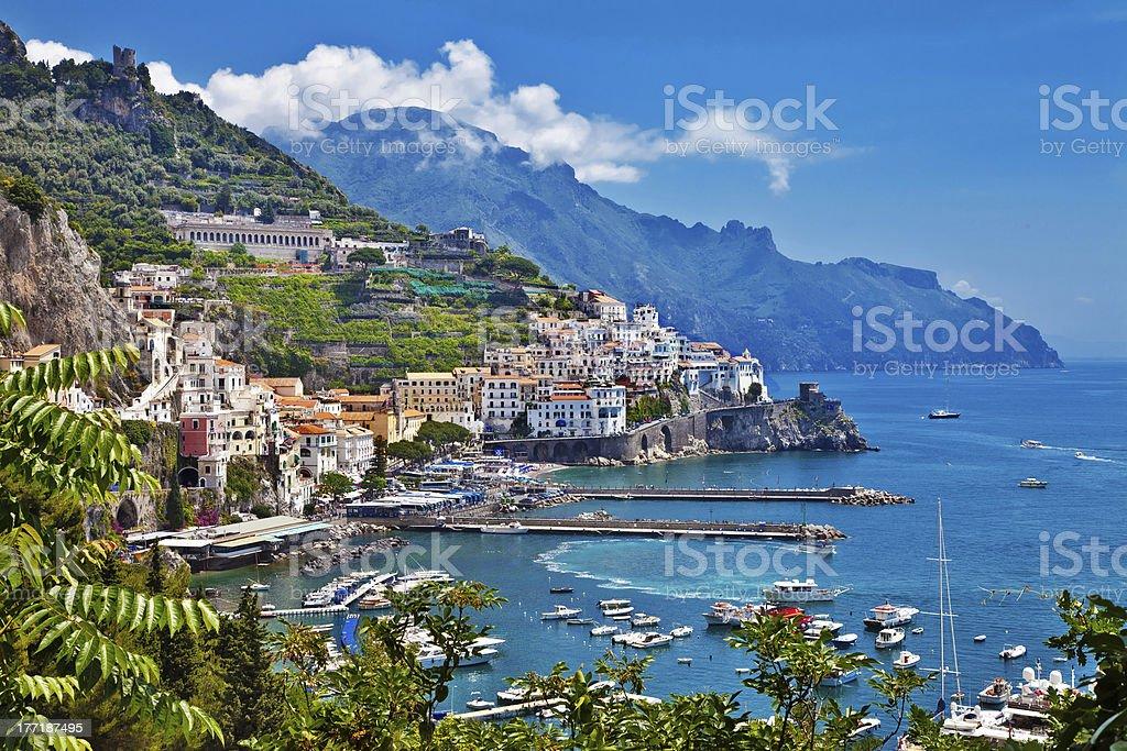 view of Amalfi, Positano stock photo