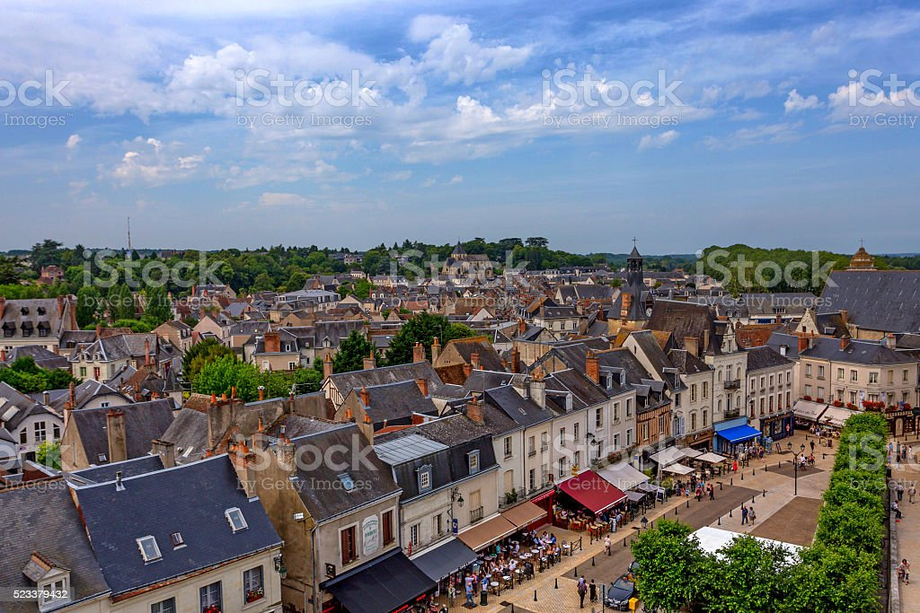 View of Amboise stock photo