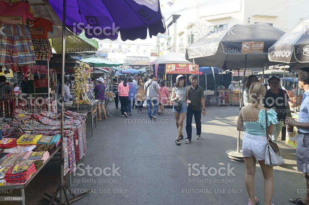 View of Amphawa Floating market,Thailand royalty-free stock photo