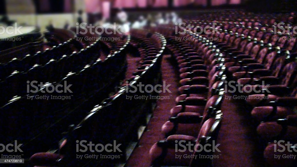 View Of An Empty Theater Concert Seats stock photo