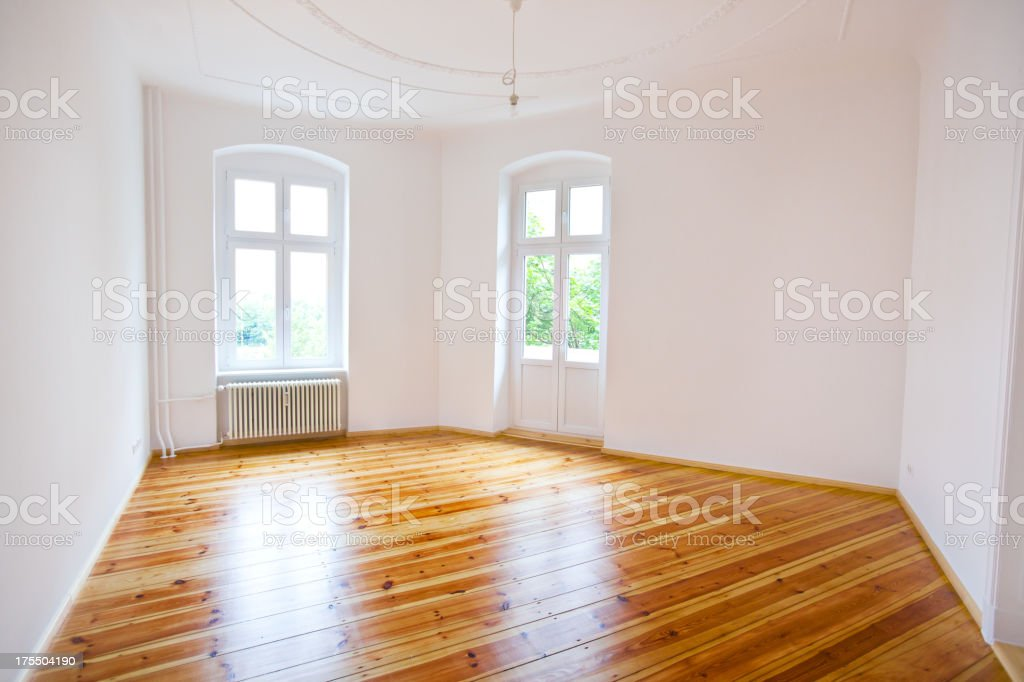 View of an old Berlin apartment royalty-free stock photo