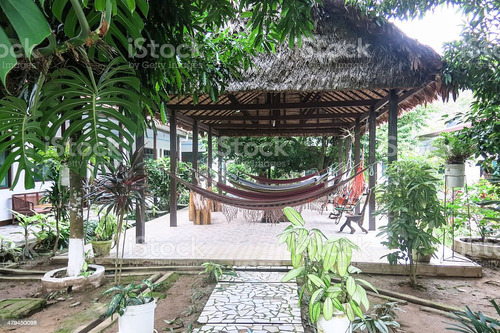 view of an resort in the Amazon stock photo