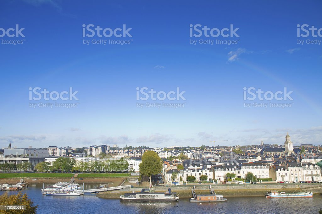 view of Angers, France stock photo