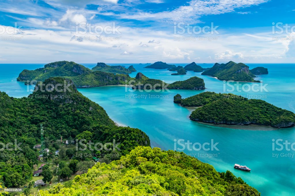 View of Angthong national park in Thailand stock photo