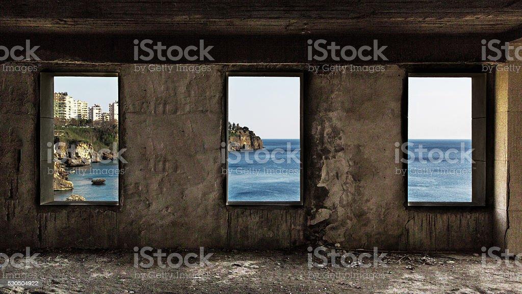 View Of Antalya From Slaughterhouse stock photo