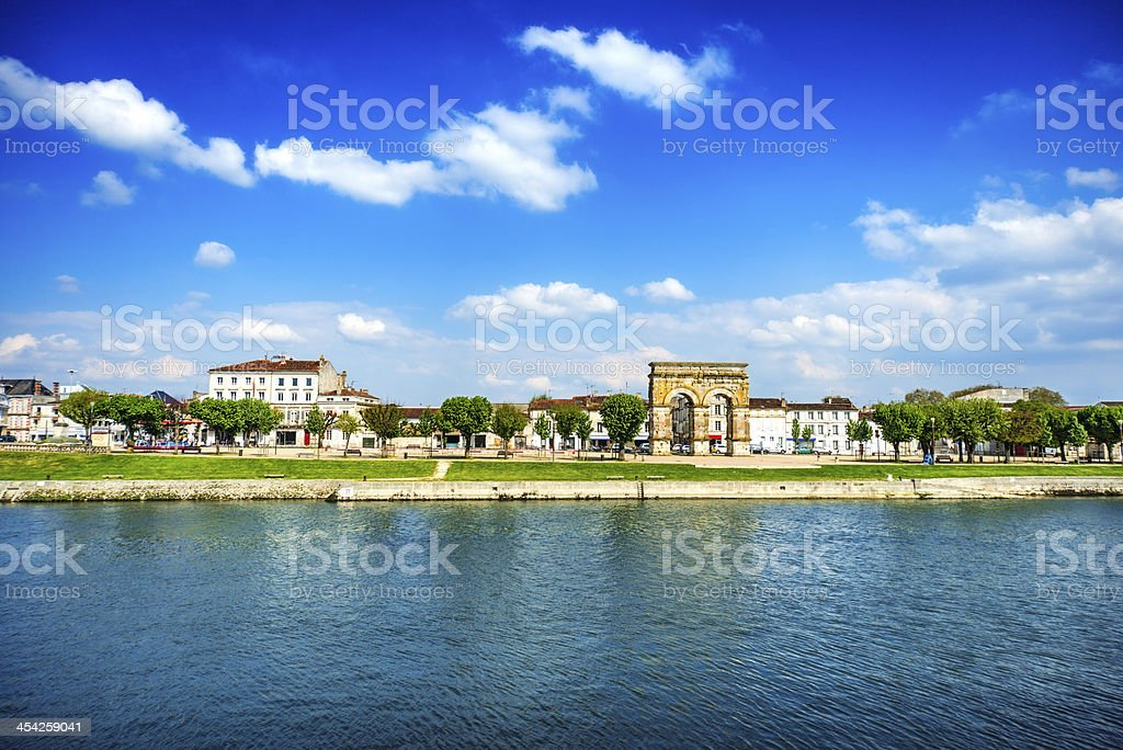 View of Arc in Saintes, Poitou-Charentes, France royalty-free stock photo