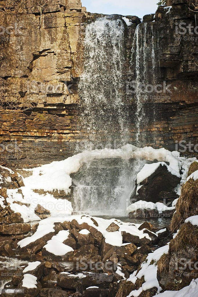 View of Ashgill Force Waterfall Cumbria royalty-free stock photo