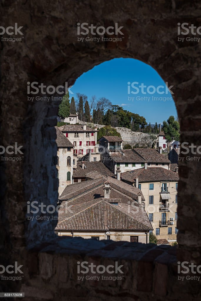 view of Asolo stock photo