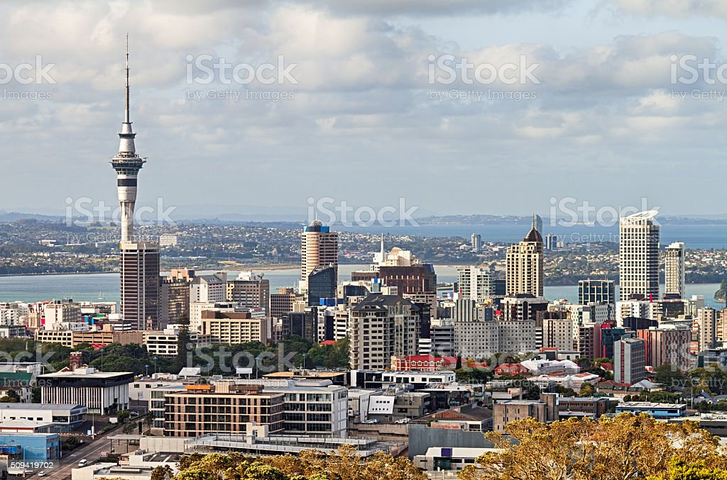 View of Auckland Downtown, New Zealand stock photo