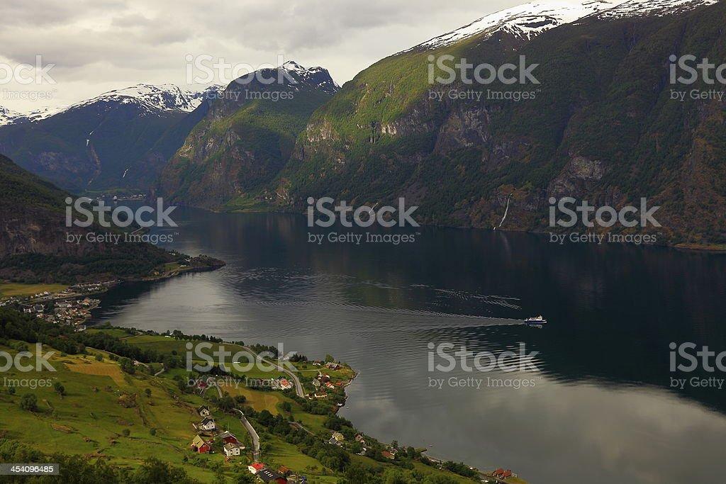 View of Aurlandfjord stock photo