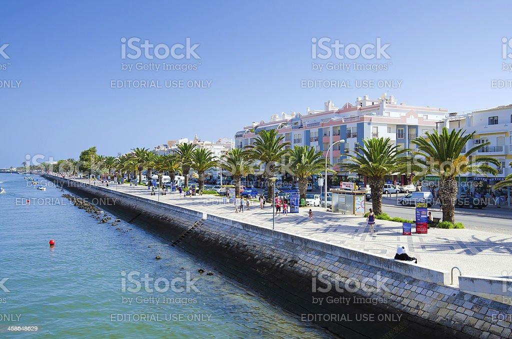 View of Avenue dos Descobrimentos in Lagos, Portugal stock photo