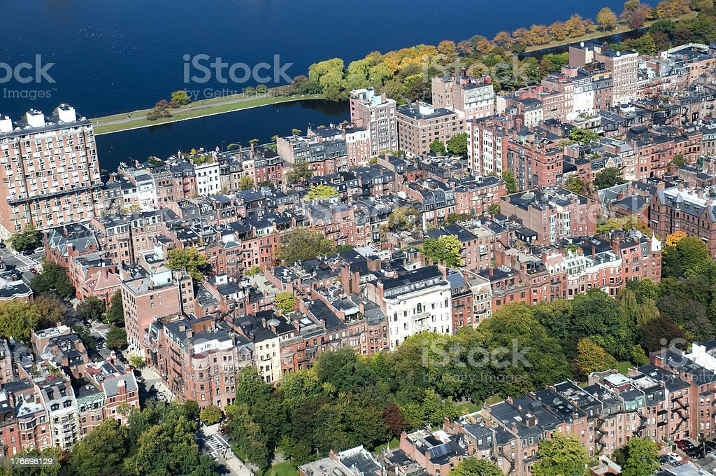 View of Back Bay in Boston stock photo