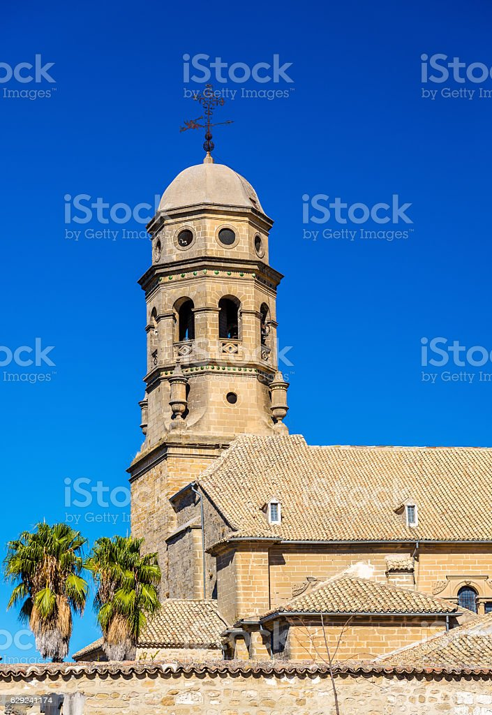 View of Baeza Cathedral - Spain, Andalusia stock photo