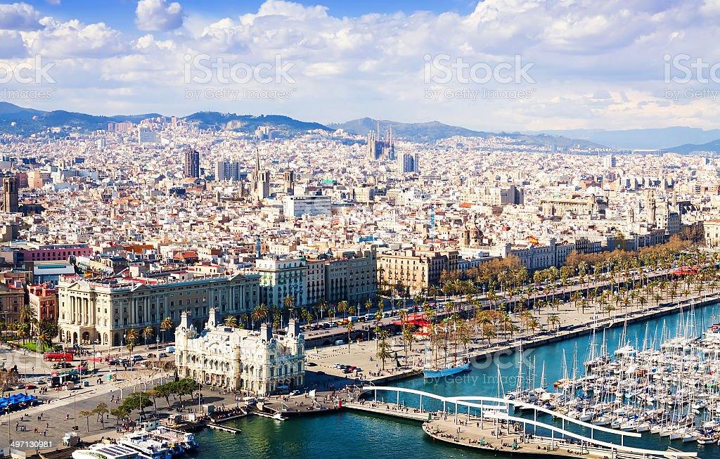 view of Barcelona city. Catalonia stock photo
