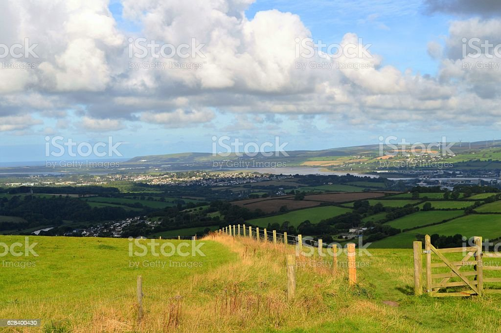View of Barnstaple from Codden Hill stock photo