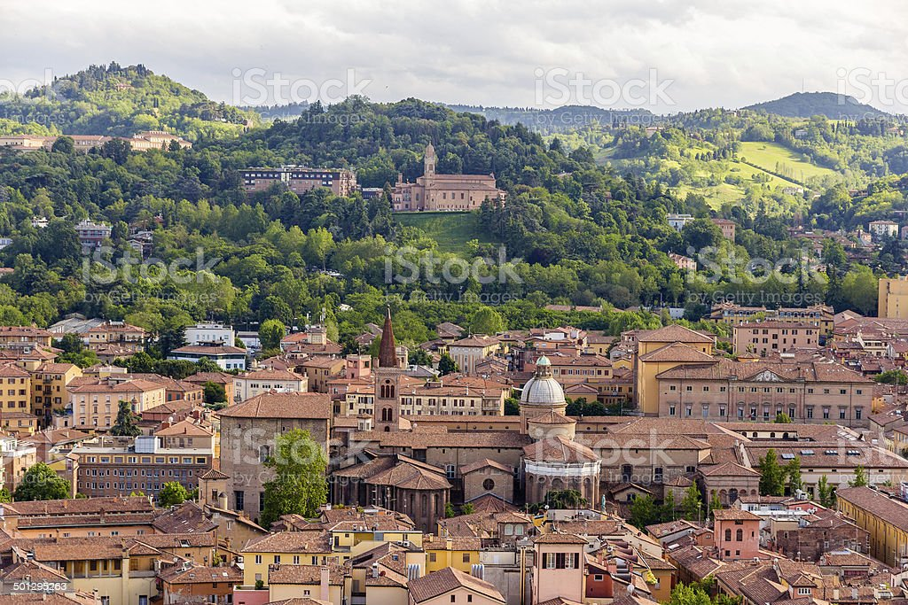 View of Basilica di San Domenico in Bologna, Italy stock photo