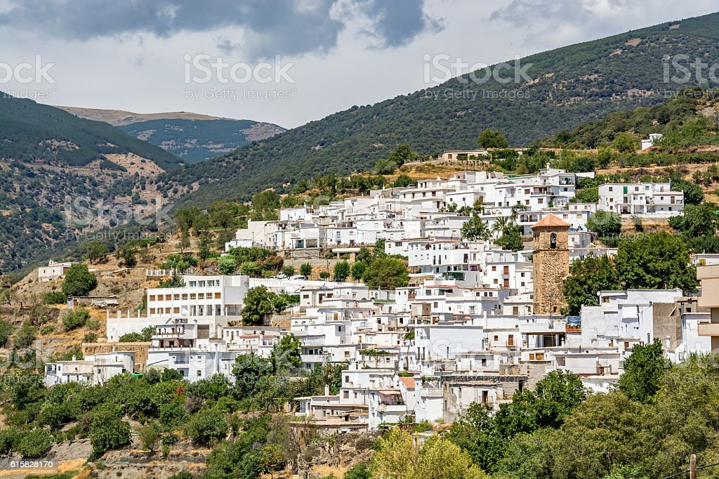 View of Bayárcal (Bayarcal), Alpujarra region, Spain stock photo