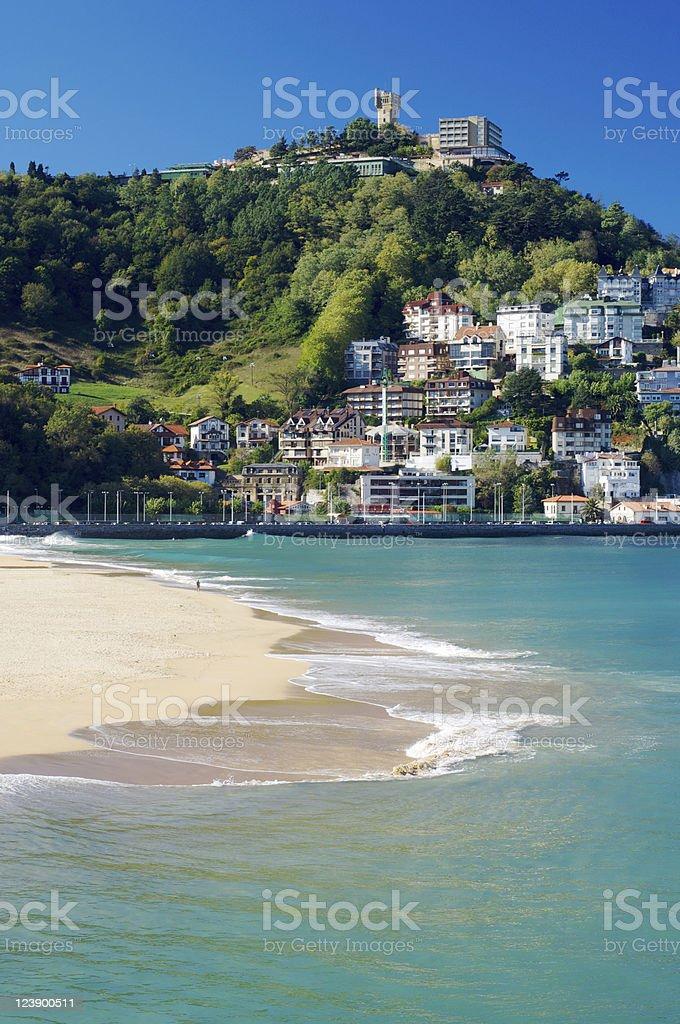 view of beach stock photo
