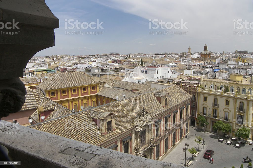 View of beautiful Seville town, Andalusia, Spain royalty-free stock photo