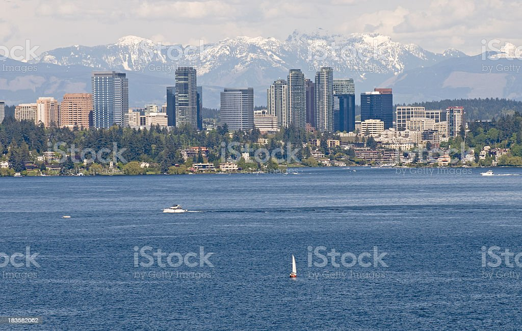 View of Bellevue in Washington state stock photo
