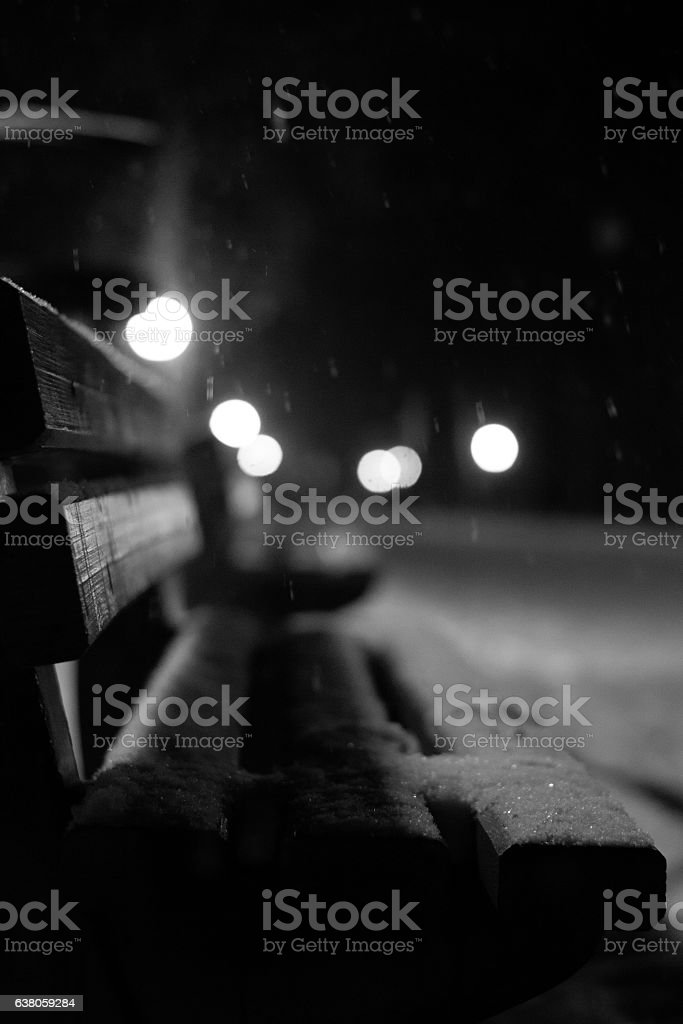View of bench stock photo