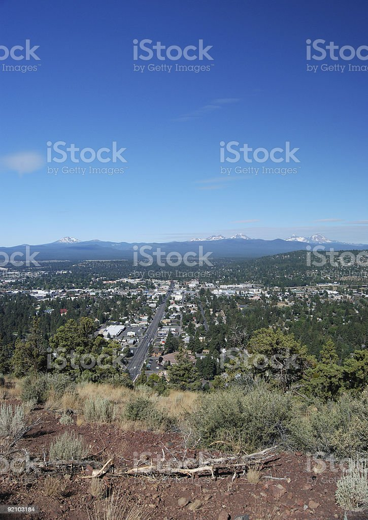 View of Bend, Oregon stock photo
