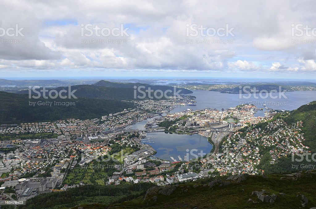 View of Bergen stock photo