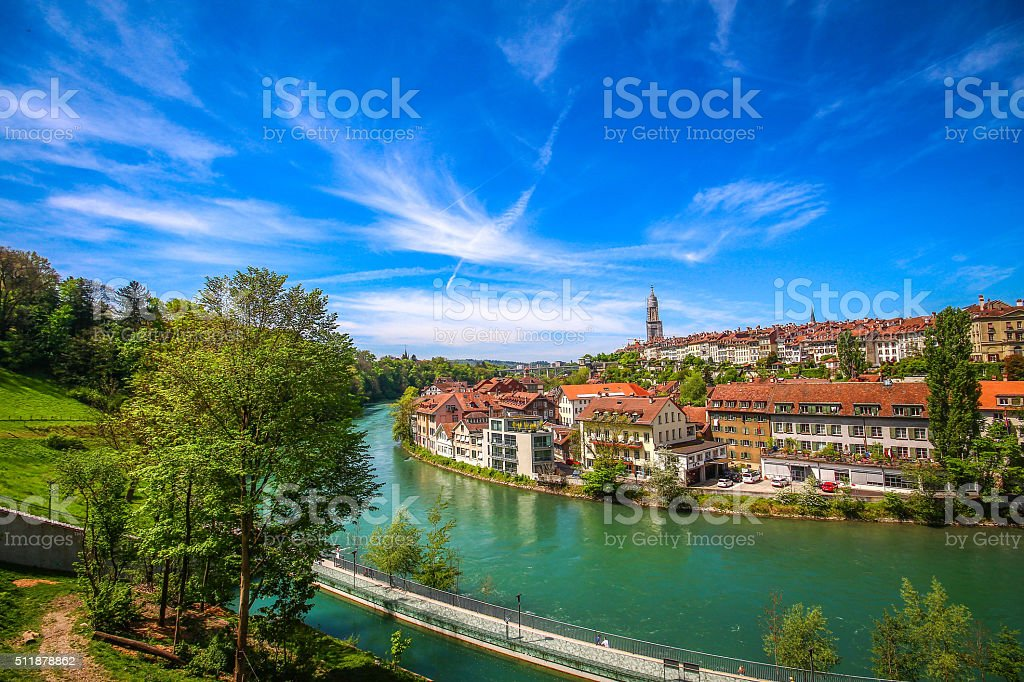 View of Bern city, Switzerland stock photo