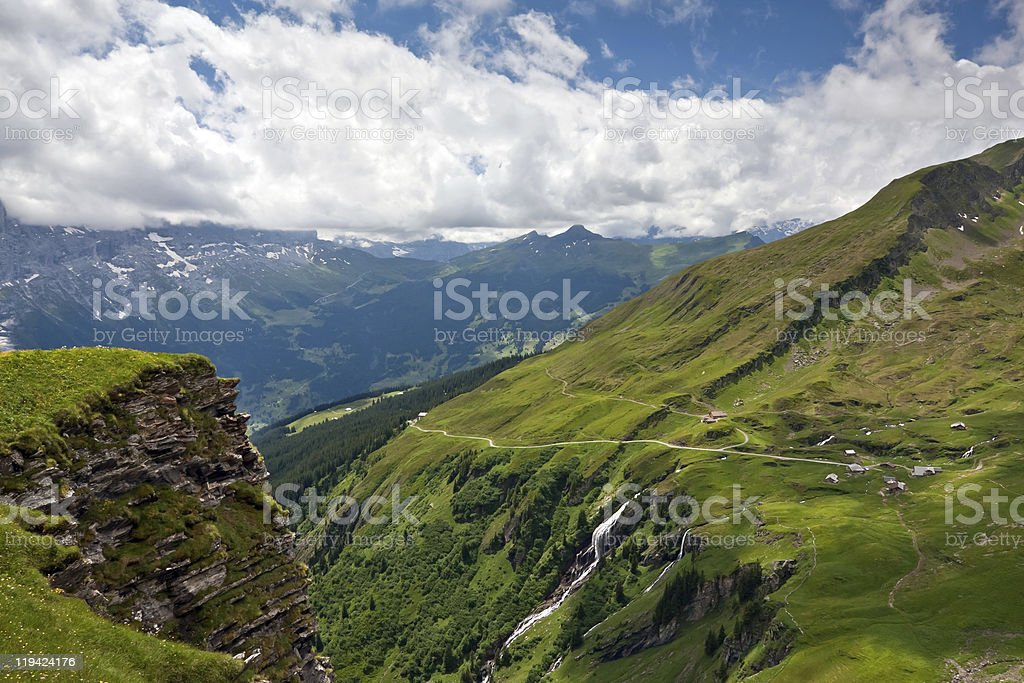 View of Bernese Alps, Grindelwald - Switzerland royalty-free stock photo