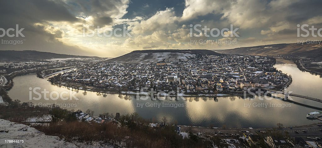 View of Bernkastel-Kues royalty-free stock photo