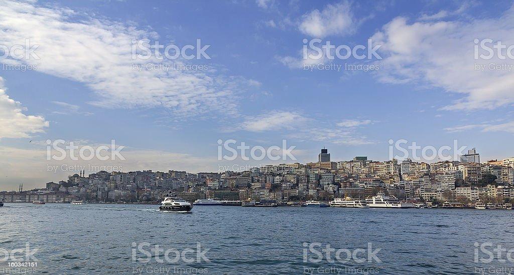 View of Beyoglu district, Istanbul, Turkey royalty-free stock photo
