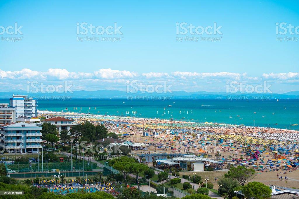 View of Bibione beach stock photo