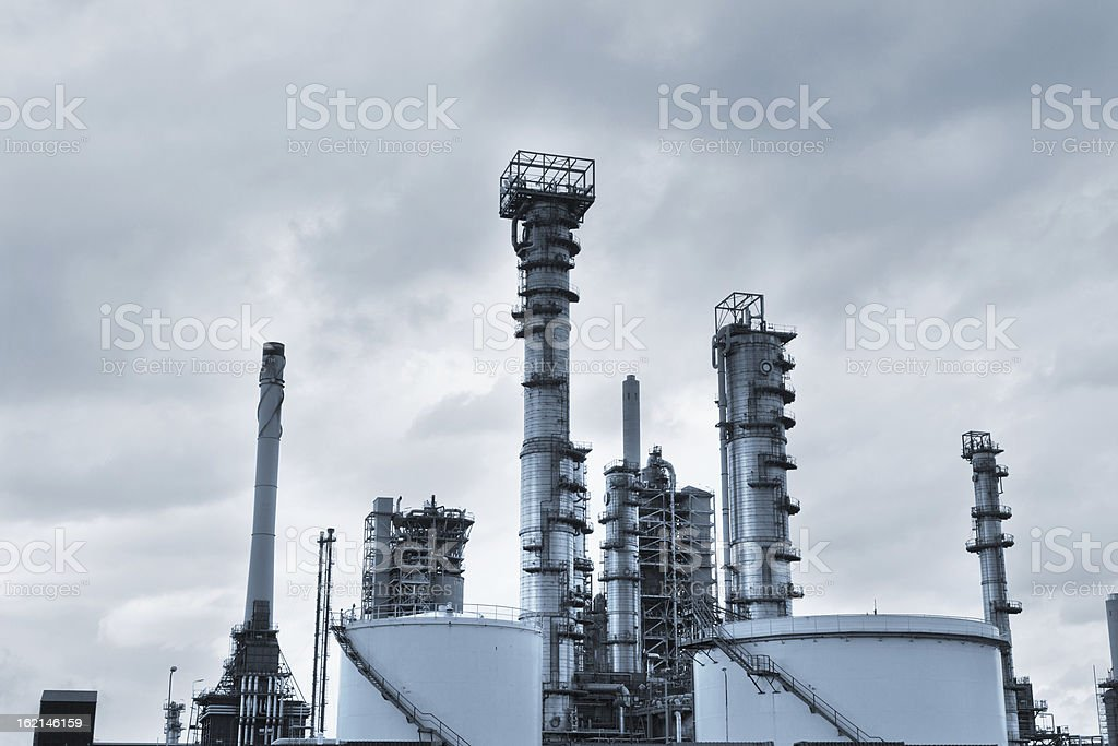 View of big oil refinery royalty-free stock photo